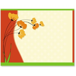 Fall Poppies Postcards