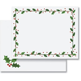 Holly Border Holiday Postcards