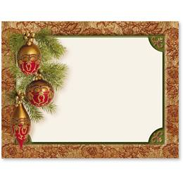 Baroque Christmas Holiday Postcards
