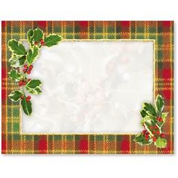 Christmas Plaid Christmas Postcards