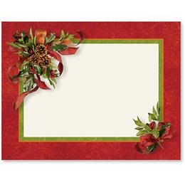Ribbons and Holly Holiday Postcards