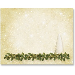Golden Shimmer Holiday Postcards