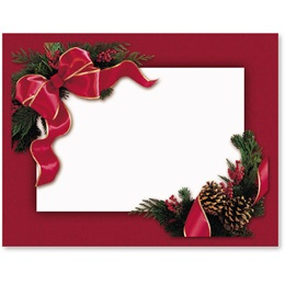 Red Ribbon And Pine Postcards