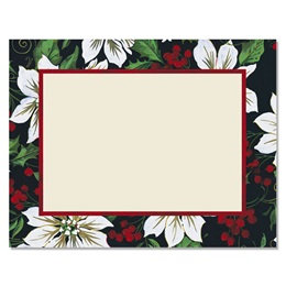 Royal Poinsettia Christmas Postcards