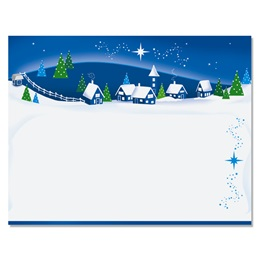 Snowy Village Christmas Postcards