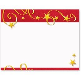 Swirls of Stars Christmas Postcards