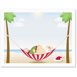 Tropical Santa Postcards