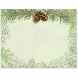 Wintery Pine Holiday Postcards