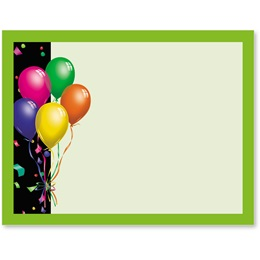 Balloons Confetti Light Green Postcards