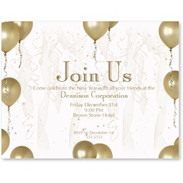 Gold Balloons Postcards