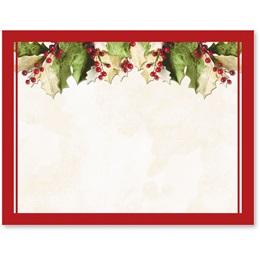 Holly Christmas Postcards