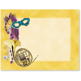 Mardi Gras Colors Postcards