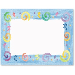 Party Swirls Postcards