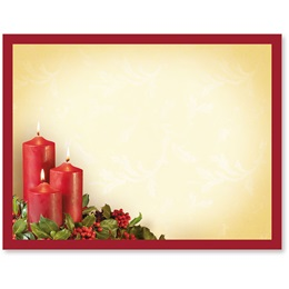 Candlelight and Holly Postcards