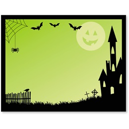 Spooky Lane Halloween Postcards