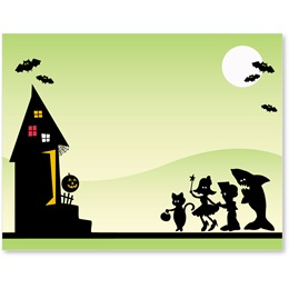 Midnight Capers Halloween Postcards