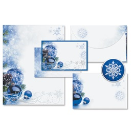 Sapphire Christmas Holiday Stationery Set