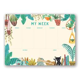 Holiday at Home Weekly Desk Pad