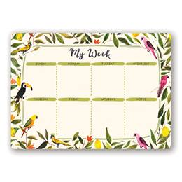 Jungle Birds Weekly Desk Pad