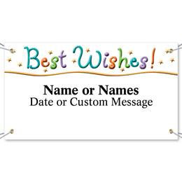 Best Wishes Vinyl Banners