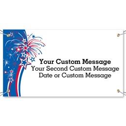 Festive Fireworks Vinyl Banners