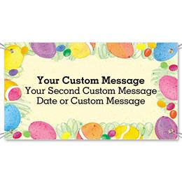 Party Swirls Vinyl Banners