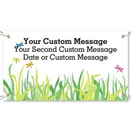 Spring Grass Vinyl Banners