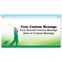 Tee to Green Vinyl Banners