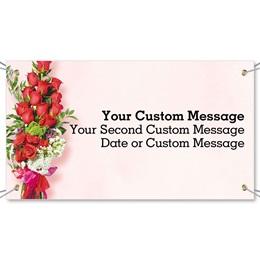 Valentine Bouquet Vinyl Banners