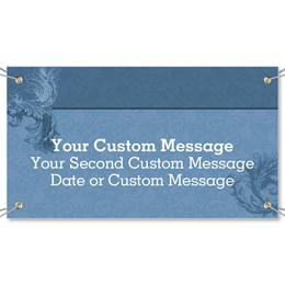 Scroll Blue Vinyl Banners
