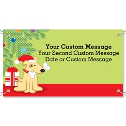 Christmas Puppy Vinyl Banners