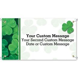 Green Clover Vinyl Banners