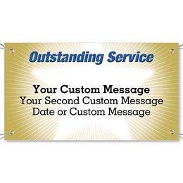 Outstanding Service Vinyl Banners