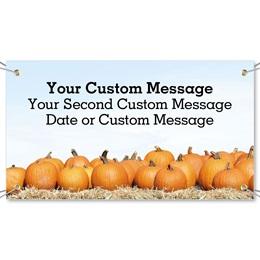 Pumpkin Hayride Vinyl Banners