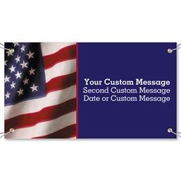 Wavy Flag Vinyl Banners