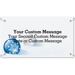 Cobalt Christmas Vinyl Banners