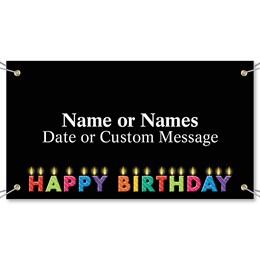 Birthday Twinkle Vinyl Banners
