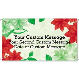 Poinsettia Petals Vinyl Banners