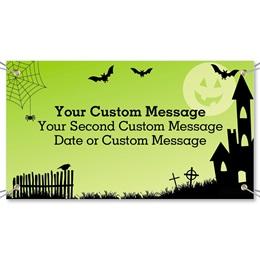 Spooky Lane Vinyl Banners