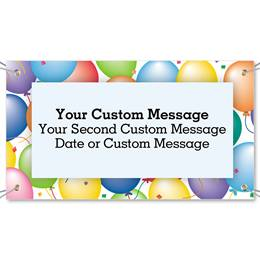 Party Balloons Vinyl Banners