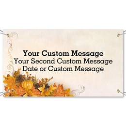 Swirls of Autumn Vinyl Banners