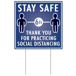 Social Distancing Yard Sign