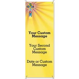 Mosaic Cross Vertical Banners
