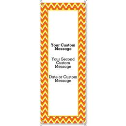 Candy Corn Chevron Fabric Vertical Banners