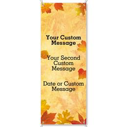 Fall Impressions Fabric Vertical Banners