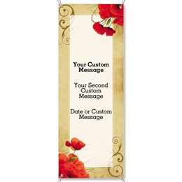 Scarlet Poppies Fabric Vertical Banners