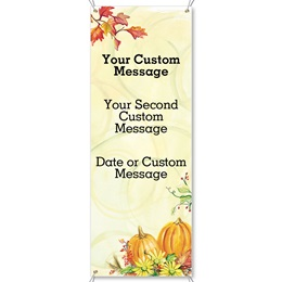 Harvest Sunshine Fabric Vertical Banners
