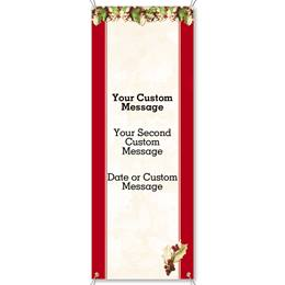 Holly Christmas Vertical Banners