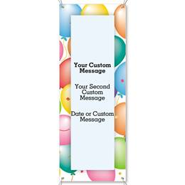 Party Balloons Vertical Banners