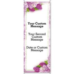 Sweet Lilacs Vertical Banner